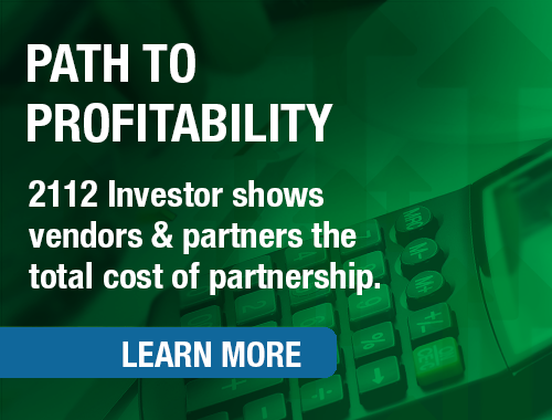 2112 Investor shows vendors & partners the total cost of partnership